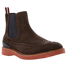Buy Bertie Suede Capital Chelsea Brogue Boots Online at johnlewis.com