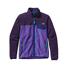 Buy Patagonia Women's Full Zip Snap Fleece Jacket, Violet/Tempest Online at johnlewis.com