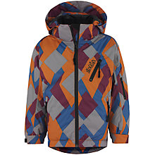 Buy Skogstad Boys' Svor Technical Padded Jacket, Grey/Orange Online at johnlewis.com