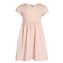 Buy John Lewis Girl Short Sleeve Pattern Dress, Pink Online at johnlewis.com