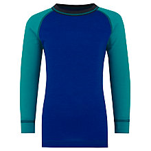 Buy Skogstad Boys' Langedal Base Layer Top and Trousers, Blue/Green Online at johnlewis.com