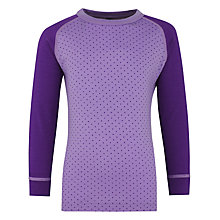 Buy Skogstad Girls' Langedal Base Layer Top and Trousers, Purple/Lilac Online at johnlewis.com