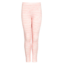 Buy Kin by John Lewis Girls' Fine Stripe Leggings, Coral Online at johnlewis.com