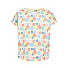 Buy Kin by John Lewis Girls' Spot Print T-Shirt, Multi Online at johnlewis.com