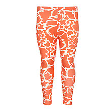 Buy Kin by John Lewis Girls' Floral Leggings, Red Online at johnlewis.com