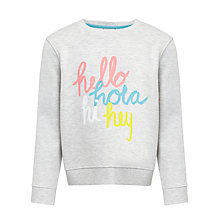 Buy Kin by John Lewis Girls' Hola Sweatshirt Online at johnlewis.com