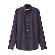 Buy Jigsaw Slim Cutaway Poplin Shirt, Navy Online at johnlewis.com