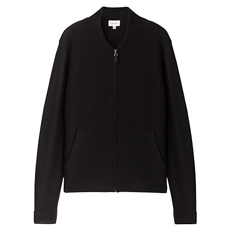 Buy Jigsaw Milano Merino Wool Bomber Jacket, Black Online at johnlewis.com