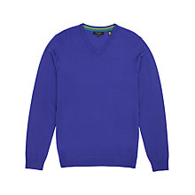 Buy Ted Baker Babel Merino Wool V Neck Jumper, Purple Online at johnlewis.com