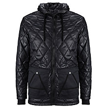Buy G-Star Raw Padded Varsity Jacket with Hood, Mazarine Blue Online at johnlewis.com
