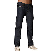 Buy Diesel Waykee 0088Z Straight Jeans, Indigo Online at johnlewis.com