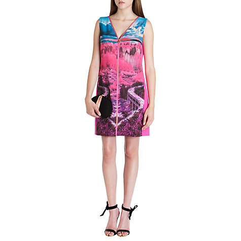 Buy Ted Baker Road to Nowhere Shift Dress, Mid Pink Online at johnlewis.com