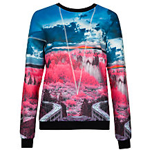 Buy Ted Baker Road to Nowhere Printed Jumper, Mid Pink Online at johnlewis.com