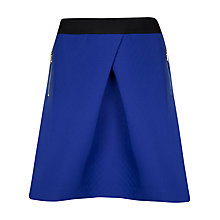 Buy Ted Baker Zip Pocket Skater Skirt, Bright Blue Online at johnlewis.com