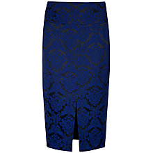 Buy Ted Baker Jacquard Suit Skirt, Bright Blue Online at johnlewis.com