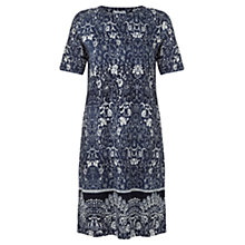 Buy Jigsaw Ethnic Floral T-Shirt Dress, Blue Online at johnlewis.com