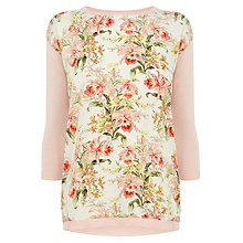 Buy Oasis Botanical Front Top, Light Neutral Online at johnlewis.com