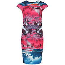 Buy Ted Baker Road to Nowhere Printed Dress, Mid Pink Online at johnlewis.com