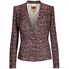 Buy Ted Baker Jacquard Suit Jacket, Mink Online at johnlewis.com