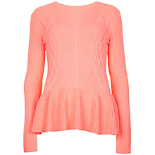 Buy Ted Baker Peplum Ribbed Detailed Jumper Online at johnlewis.com