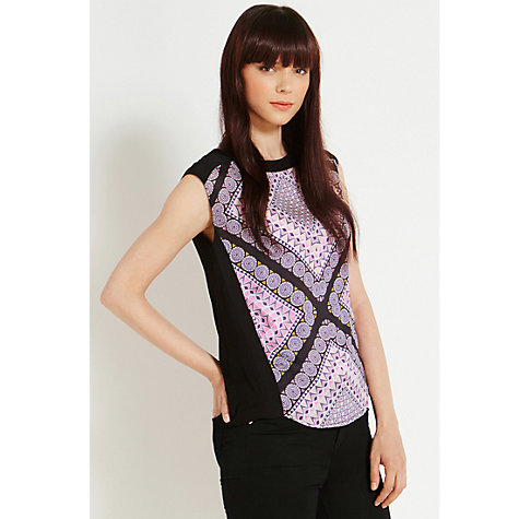Buy Oasis Tile Print T-Shirt, Multi Online at johnlewis.com