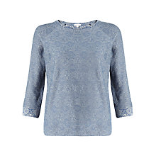 Buy Jigsaw Jacquard Raglan Sweatshirt, Blue Online at johnlewis.com
