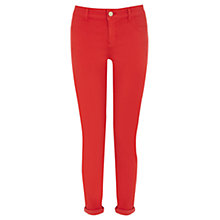 Buy Oasis Jade Crop Jeans, Pale Red Online at johnlewis.com
