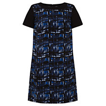 Buy Jigsaw Ocean Check Print Silk Dress, Multi Online at johnlewis.com