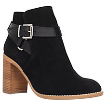 Buy KG by Kurt Geiger Scarlett Suede Ankle Boots, Black Online at johnlewis.com