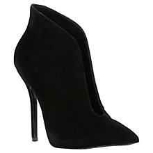 Buy Steve Madden Derived Suede Open Vamp Ankle Boots, Black Online at johnlewis.com
