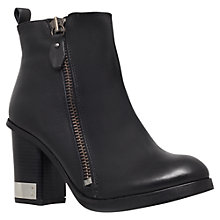Buy Miss KG Sahara Leather Block Heel Ankle Boot, Black Online at johnlewis.com