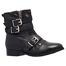 Buy Miss KG Steph Leather Buckle Detail Flat Calf Boots Online at johnlewis.com