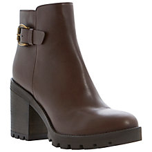Buy Dune Black Playton Side Buckle Detail Leather Ankle Boots Online at johnlewis.com