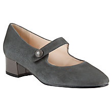 Buy John Lewis Taragon Suede Low Block Heel Court Shoes Online at johnlewis.com
