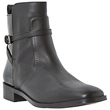 Buy Bertie Pelli Leather Ankle Boot, Black Online at johnlewis.com
