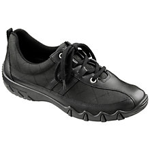 Buy Hotter Leanne Leather Trainers, Black Online at johnlewis.com