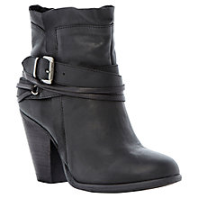 Buy Steve Madden Raffa Leather Buckle Trim Western Style Ankle Boots Online at johnlewis.com