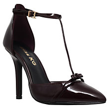 Buy Miss KG Anja T-Bar Stiletto High Heel Court Shoes, Burgundy Online at johnlewis.com