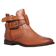 Buy Miss KG Solar Leather Low Heeled Ankle Boots, Tan Online at johnlewis.com