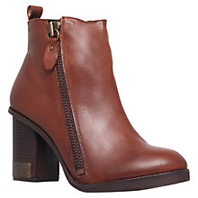 Buy Miss KG Sahara Leather Block Heel Ankle Boot Online at johnlewis.com