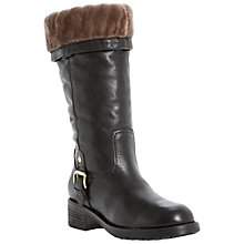Buy Dune Black Tango Leather Calf Boots, Black Online at johnlewis.com