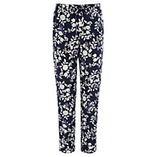 Buy Oasis Butterfly Print Trousers, Multi/Blue Online at johnlewis.com