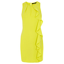 Buy Oasis Crepe Frill Shift Dress, Mid Yellow Online at johnlewis.com