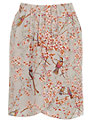 Oasis Botanical Wrap Skirt, Multi/Natural