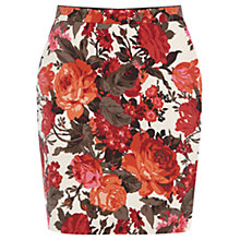 Buy Oasis Painted Rose Mini Skirt, Multi Online at johnlewis.com