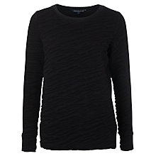 Buy French Connection Rocky Road Sweatshirt, Black Online at johnlewis.com