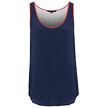 Buy French Connection Supersilk Block Vest, Utility Blue/Winter White/Havana Red Online at johnlewis.com