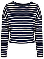 French Connection French Stripe 3/4 Length Sleeve Top, Utility Blue