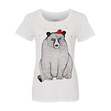 Buy French Connection Big Bear T-Shirt, Winter White/Multi Online at johnlewis.com