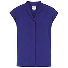 Buy Reiss Diego Poly Shirt, Blue Online at johnlewis.com